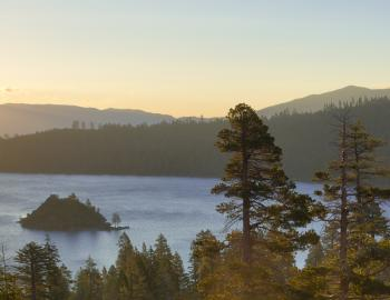 view of emerald bay tea island