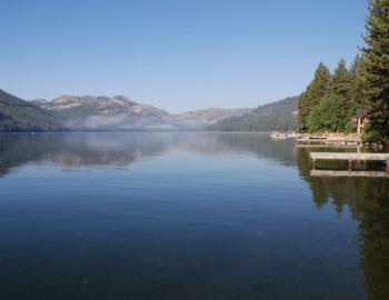 blue waters of Donner Lake