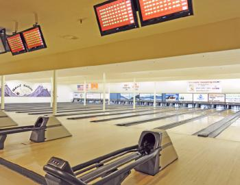 view of bowling alley