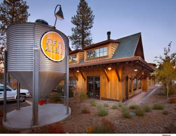 front view of fifty fifty restaurant and tap house