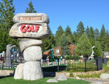 miniature golf course sign