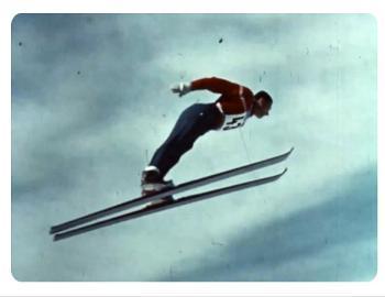 1960 winter olympics ski jumper