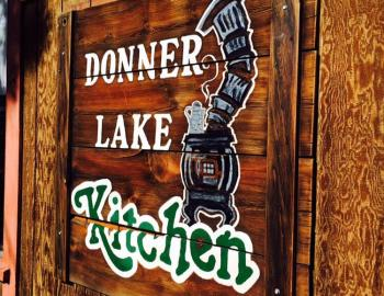 sign at front of donner lake kitchen