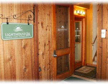 front door of the lighthouse spa