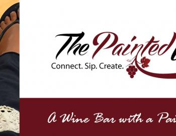The painted wine logo