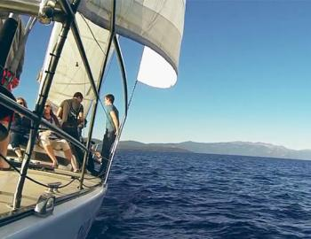 people on a sailing boat