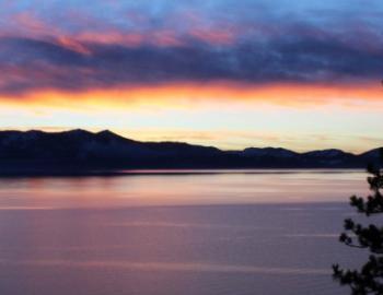 sunset of lake tahoe