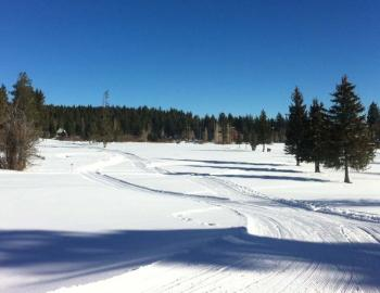 groomed snow trails