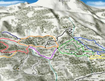 map of cross country ski map