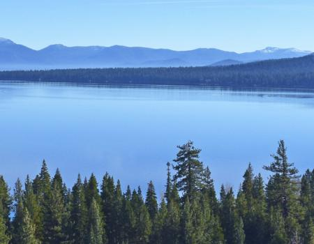 View of North Lake Tahoe Mountains