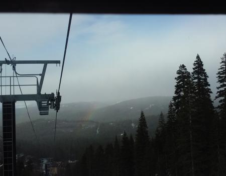 Rainbow from the Lift at Northstar