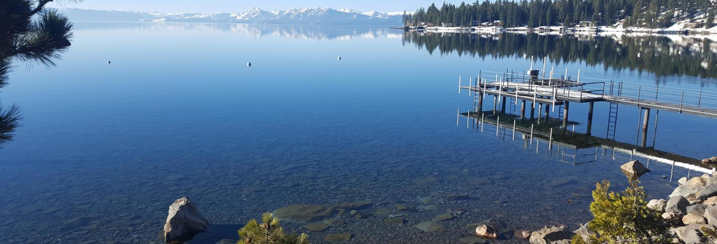 calm waters of lake tahoe