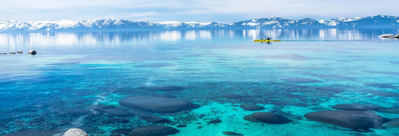 View of clear Lake Tahoe Waters