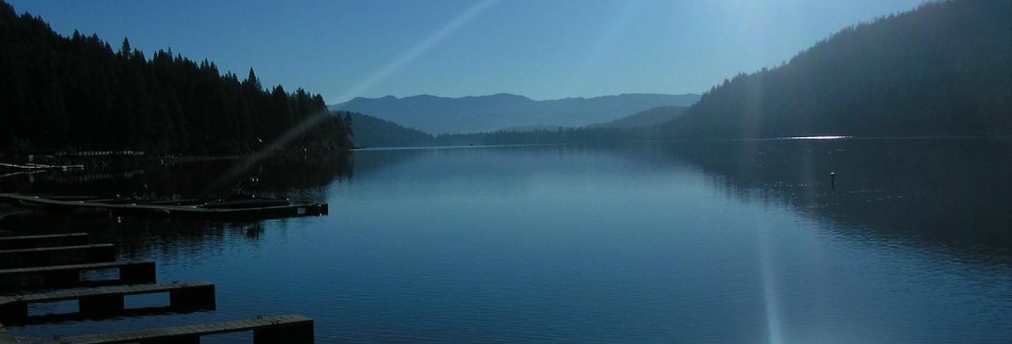 view of donner lake calm waters