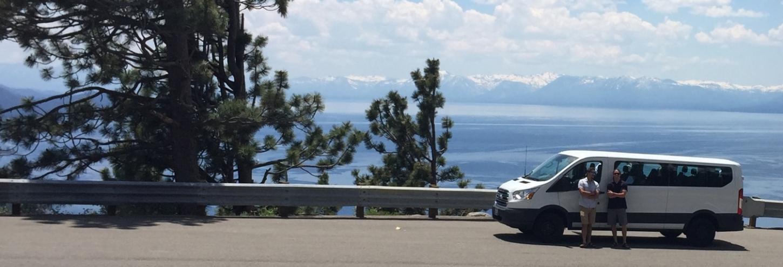 touring van overlooking the lake