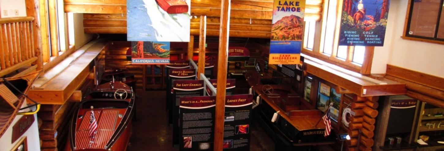 wooden boats inside indoors for viewing